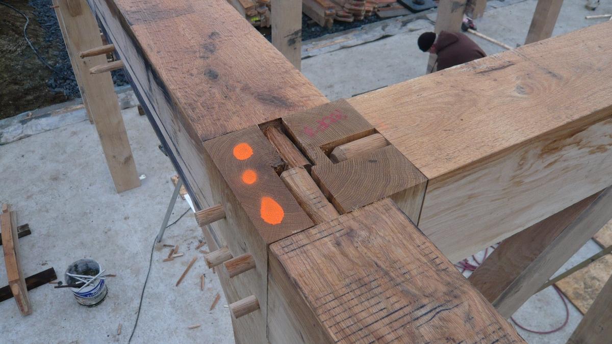 Eyckenhout : Eiken frame gereed